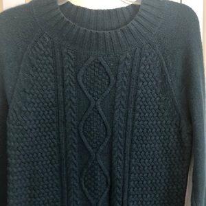Deep green sweater
